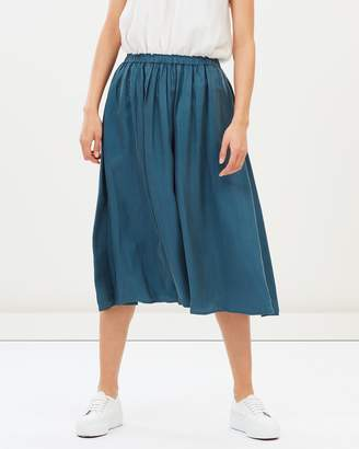 Maison Scotch Cupro Viscose Midi Length Full Skirt