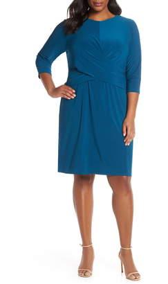 Eliza J Ruched Waist Sheath Dress