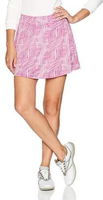 """PGA TOUR Women's 16"""" Printed Stripe Collage Knit Skort"""