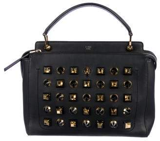 Fendi Studded Dotcom Leather Satchel
