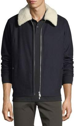 Theory Wool Melton Bomber Jacket