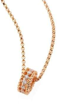 Roberto Coin Symphony Braided Diamond& 18K Rose Gold Pendant Necklace
