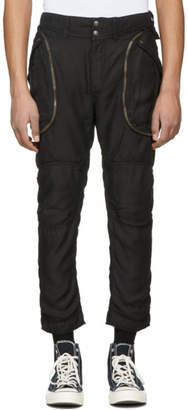 Faith Connexion Black Satin Cargo Pants