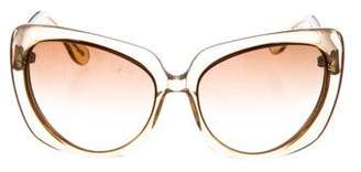 Bottega Veneta Resin Oversize Sunglasses