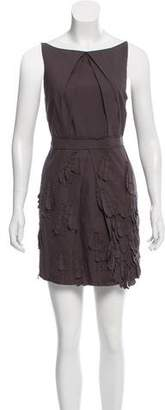 Robert Rodriguez Sleeveless Embellished Mini Dress