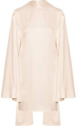 SOLACE London Kinley Cape-Effect Satin-Crepe Mini Dress