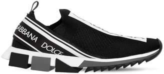 Dolce & Gabbana Sorrento Stretch Mesh Slip-On Sneakers