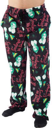 Novelty Licensed Elf Smiling's My Favorite Jersey Pajama Pants - Big and Tall