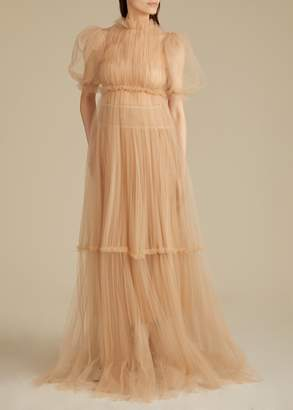 KHAITE The Calista Gown in Nude