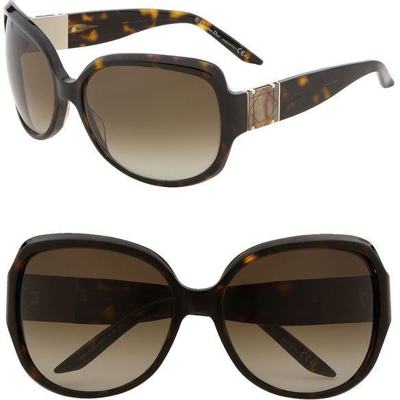 Dior 'Classic 1' Oversized Square Sunglasses