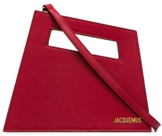 Jacquemus red Le Petit Diag bag