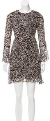 Beau Souci Leopard Print Mini Dress w/ Tags