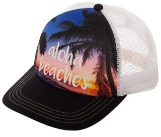 No Boundaries Women's Aloha Beaches Snapback Hat with Print Foam Front Panel and Mesh Crown
