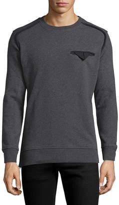 Diesel Black Gold Solid Crewneck Sweatshirt
