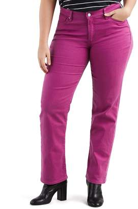 Levi's Levis Plus Size Classic Fit Midrise Straight-Leg Jeans