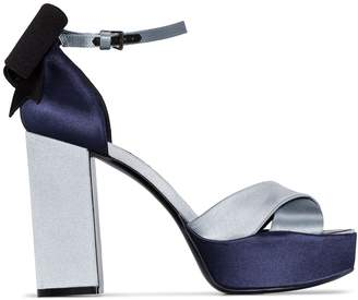 Gabor Fabrizio Viti Blue 100mm platform sandals