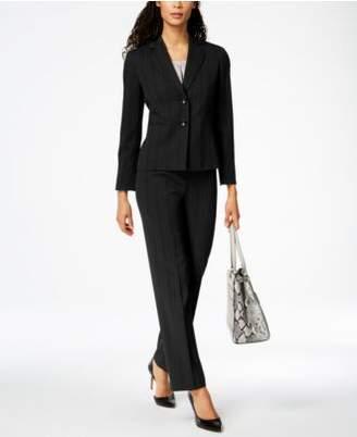 Le Suit Tonal-Stripe Two-Button Pantsuit