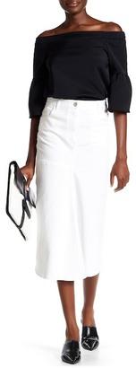 tibi Denim High Waist Skirt $350 thestylecure.com