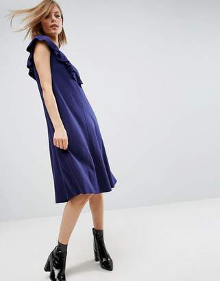 Asos Design T-Shirt Dress with Frill Detail