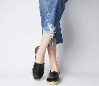 d4eab8c9c9420 Office Lucky Espadrille With Toe Cap Black Crinkle Patent