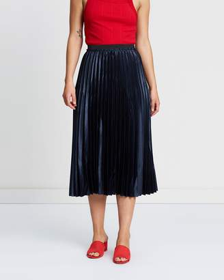 Mng Metallic Pleated Skirt