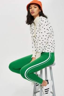 Topshop Green Side Stripe Leggings