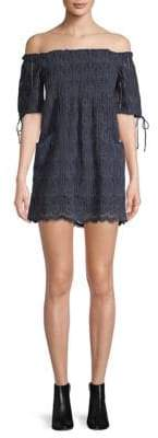 Tularosa Quinn Off-The-Shoulder Shift Dress