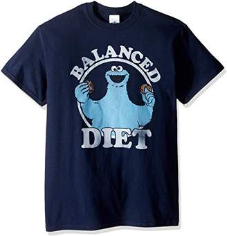 Sesame Street Men's Cookie Monster Balance Diet T-Shirt