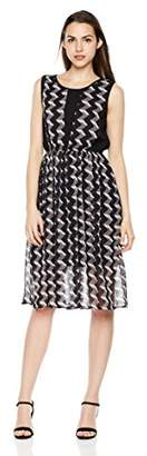 Signature Society Women's Digital Print Round Neck Sleeveless Dress
