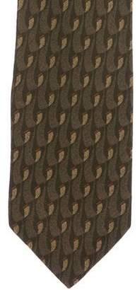 Giorgio Armani Geometric Print Silk Tie