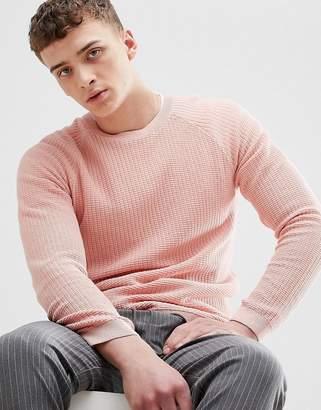 Bershka Knitted Sweater In Pink
