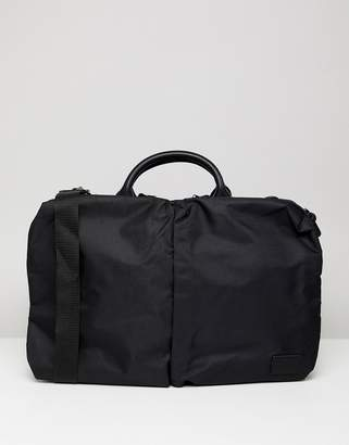 Asos DESIGN laptop bag in black with front double pockets