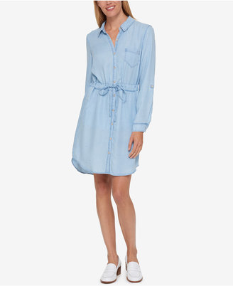 Tommy Hilfiger Denim Shirtdress, Created for Macy's $99.50 thestylecure.com