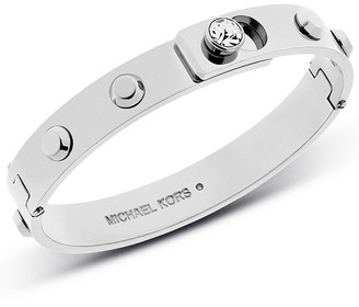 Michael Kors Astor stainless steel crystal buckle bangle