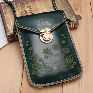 Online Flower Women Vintage Wallet Purse Coin Cell Phone Mobile Mini Crossbody Shoulder Bag