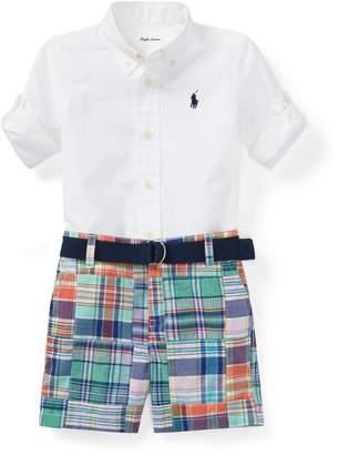 Ralph Lauren Shirt, Belt & Madras Short Set