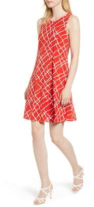 Anne Klein Print Swing Dress