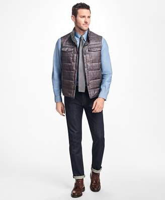 Brooks Brothers Reversible Plaid Down Vest