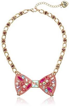 Betsey Johnson GBG) Women's Bow Pendant Necklace