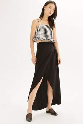 Topshop Soft wrap maxi skirt