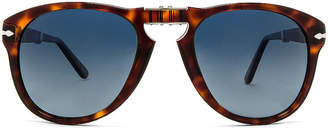 Persol PO0714 in Havana & Blue Gradient Polar | FWRD