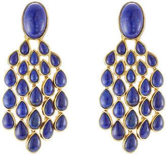 Aurelie Bidermann 18kt Gold Plated Lapis Lazuli Earrings