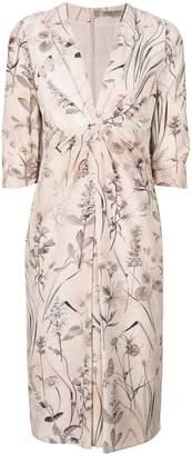 Bottega Veneta Floral-print silk dress