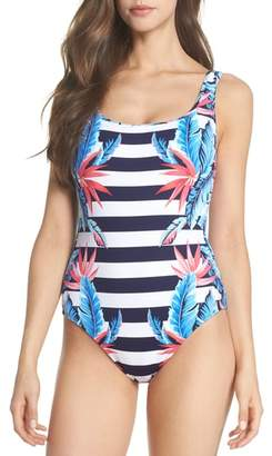 Tommy Bahama Palms of Paradise Reversible One-Piece Swimsuit
