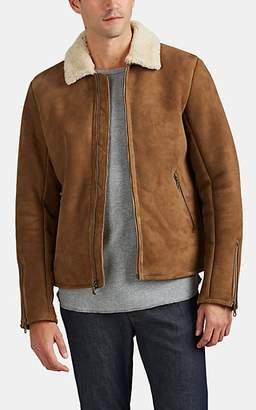 Barneys New York Men's Shearling Jacket - Beige, Tan