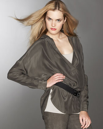 Vince Enzyme-Washed Silk Blouse