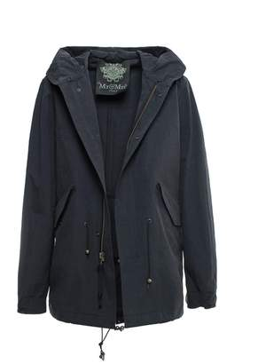 Mr & Mrs Italy Embroidery Parka Midi Wind And Waterproof Cotton