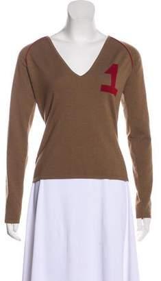 Christian Dior Rasta Intarsia-Accented Sweater