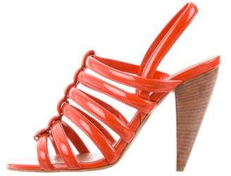 Lanvin Patent Leather Ankle Strap Sandals