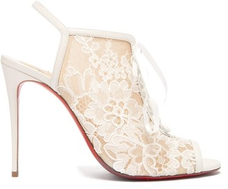 Christian Louboutin Mariee A Colmar 100 Leather Sandals - Womens - White